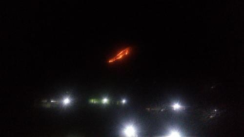 Gunung Panderman terbakar