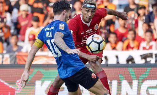 Persija Jakarta saat hadapi PSM Makassar di leg pertama Final Piala Indonesia 2019