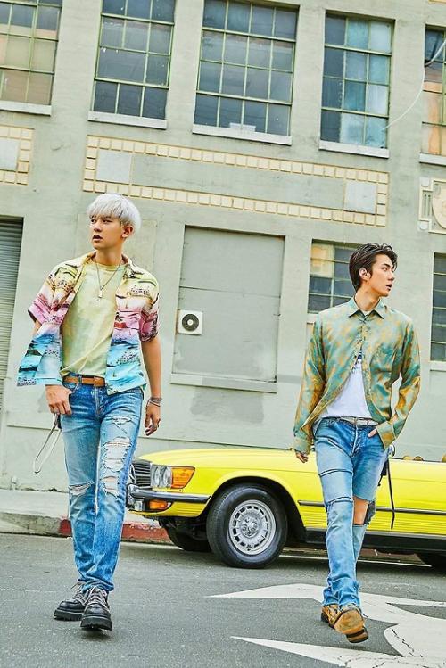 Chanyeol dan Sehun akhirnya merilis album debut mereka di bawah bendera EXO-CS, pada 22 Juli 2019. (Foto: SM Entertainment)