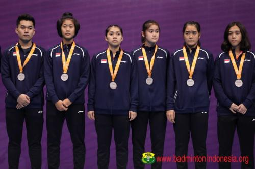 Tim Indonesia di Kejuaraan Bulu Tangkis Beregu Asia Junior 2019