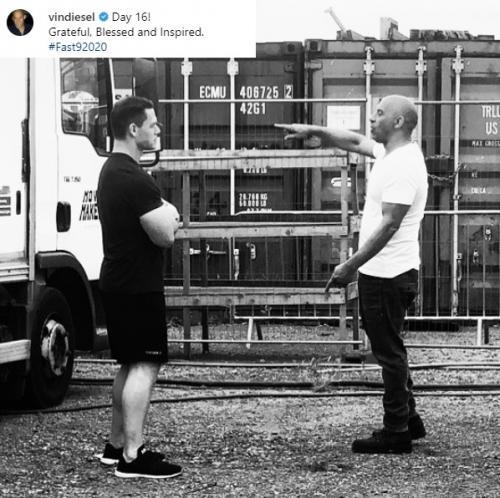 Suasana syuting Fast & Furious 9. (Foto: Twitter/@vindiesel)