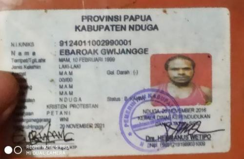 Kartu Identitas Anggota KSB Papua