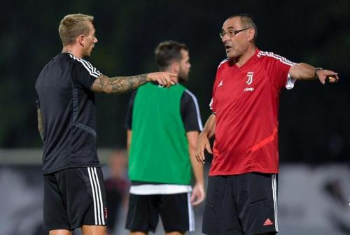 Maurizio Sarri saat sedang menangani Juventus