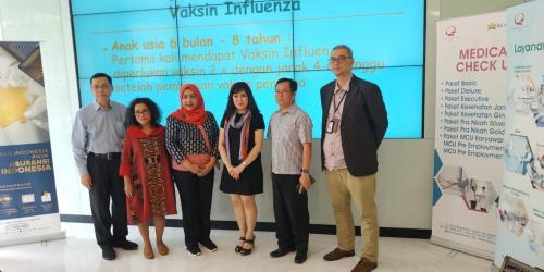 Direktur MNC Life Lilis Samsudin mengatakan, para pekerja harus mencegah serangan penyakit influenza ini.