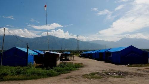 Tenda pengungsian korban gempa dan tsunami di Palu (Foto: BBC Indonesia)