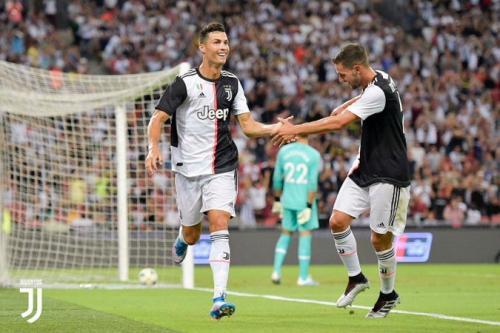 Cristiano Ronaldo belum menunjukkan penurunan kondisi fisik (Foto: Situs resmi Juventus)