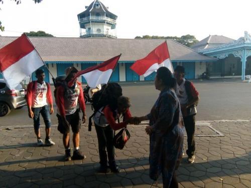 4 Pemuda Pegiat Literasi asal Wonogiri Singgah di Keraton Kasunanan Surakarta (foto: Bramantyo/Okezone)