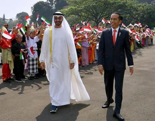 Putra Mahkota Abu Dhabi bersama Presiden