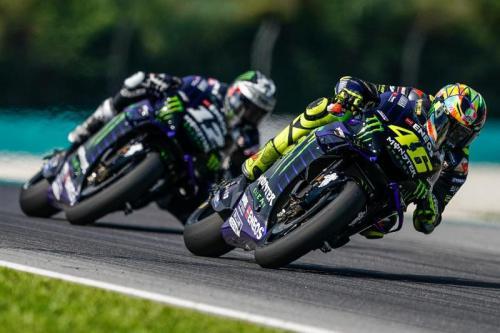 Valentino Rossi dan Maverick Vinales di MotoGP Jerman 2019