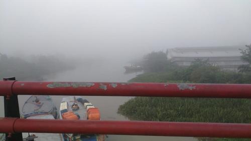 Palembang mulai diselimuti kabut asap. (Foto : Humas BMKG SMB II Palembang)