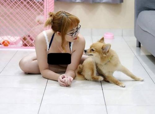 Perempuan dan anjing
