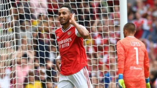 Pierre-Emerick Aubameyang sempat membuat Arsenal unggul di babak pertama (Foto: Situs resmi Arsenal)