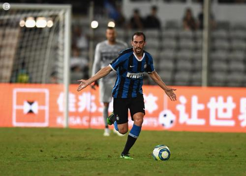 Aksi Diego Godin saat berseragam Inter Milan