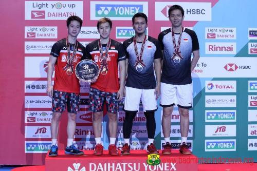 Marcus/Kevin vs Ahsan/Hendra di Jepang Open 2019