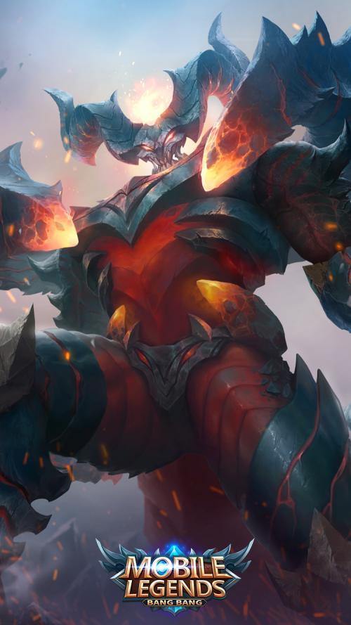 Game Mobile Legends menampilkan permainan lima lawan lima dalam sebuah arena pertempuran.