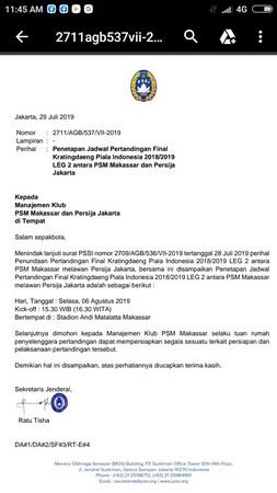 Surat PSSI