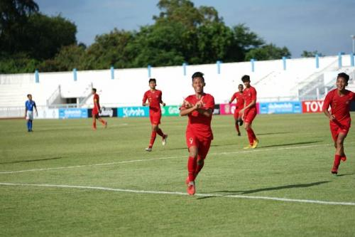 Para pemain Timnas Indonesia U-15