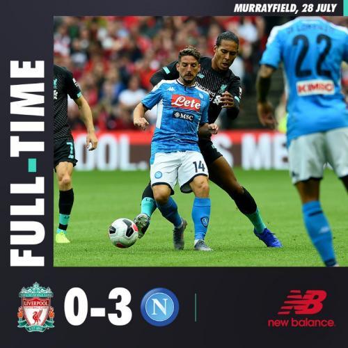 Napoli hajar Liverpool 3-0 di laga pramusim