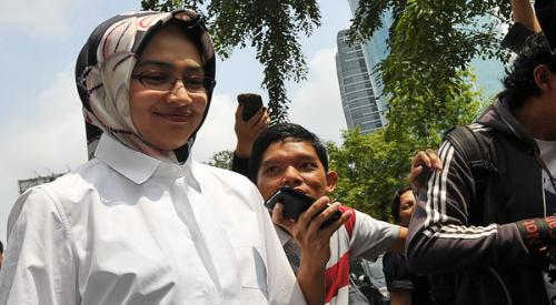 Wali Kota Tangerang Selatan, Airin Rachmi Diany (foto: Hambali/Okezone)