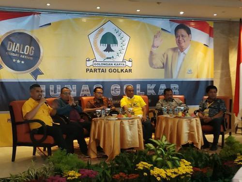 Diskusi bertajuk 'Siapa Layak di Pucuk Beringin?' (Foto: Fakhri/Okezone)