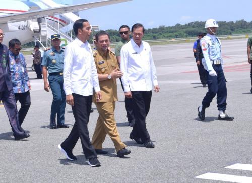 Jokowi saat ke Kalimantan tinjau lokasi calon Ibu Kota