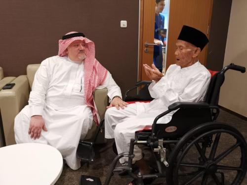 Duta Besar Arab Saudi untuk Indonesia Esam Abid Althaqafi Bersama Uhi Idros Samri (foto: Ist)