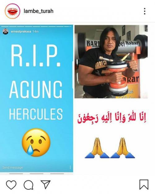 Agung Hercules meninggal