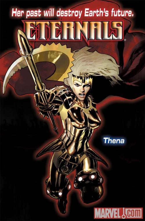 Thena dalam The Eternals akan diperankan oleh Angelina Jolie. (Foto: Marvel Comics)