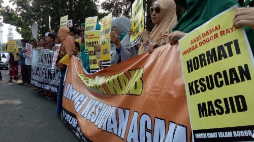 Demo di Polres Bogor