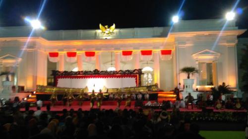 Pertunjukan Wayang Kulit di Istana Merdeka, Jakarta (foto: Fakhrizal Fakhri/Okezone)
