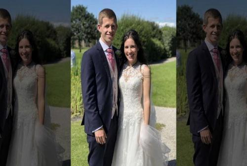 Amy dan Christian di Hari Pernikahan