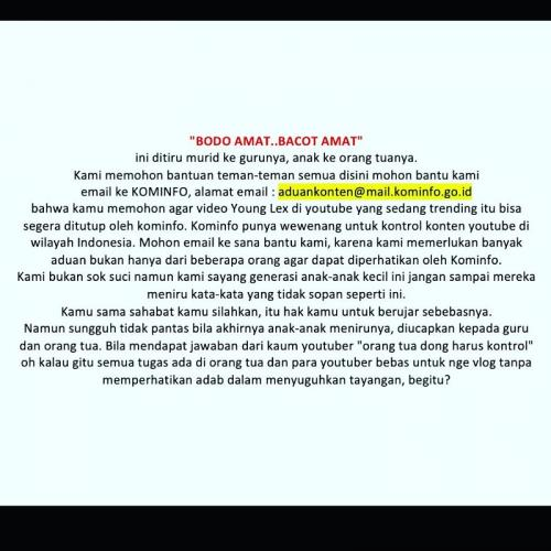 Psikolog Dedy Susanto memprotes keras keberadaan lagu Lah Bodo Amat milik rapper Young Lex. (Foto: Instagram/@dedysusantopj)