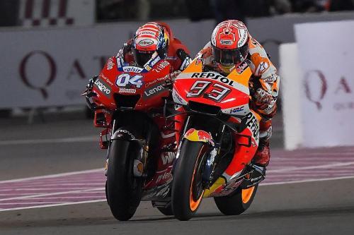 Dovizioso dan Marquez di MotoGP Qatar 2019