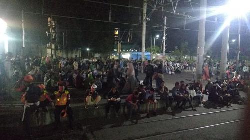 Penumpang KRL di Stasiun Bogor (Foto: Fakhri/Okezone)