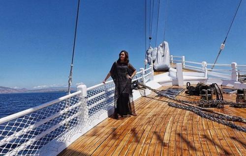 Maia di atas kapal