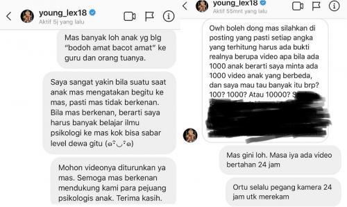 Sang psikolog meminta Young Lex untuk menurunkan lagu Lah Bodo Amat dari YouTube. (Foto: Instagram/@dedysusantopj)