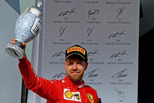 Sebastian Vettel tetap positif di musim 2019 (Foto: Scuderia Ferrari/Twitter)