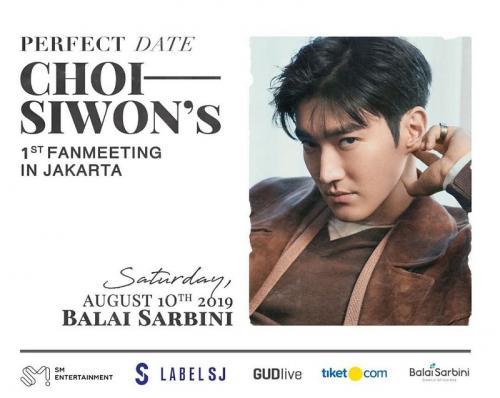 Choi Siwon akan menggelar fanmeeting perdana di Jakarta, pada 10 Agustus 2019.