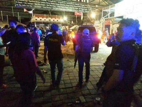 Posko nobar fans PSM Makassar di Tebet diserang sekelompok orang. (Foto: Muhamad Rizky/Okezone)