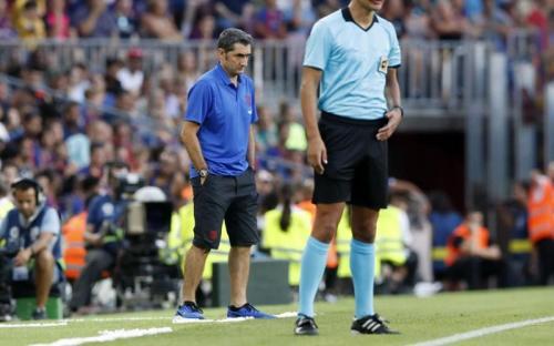 Ernesto Valverde disorot karena taktik pragmatis (Foto: Situs resmi Barcelona)