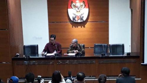 KPK konferensi pers soal OTT kasus suap impor bawang. (Foto : Arie Dwi Satrio/Okezone)