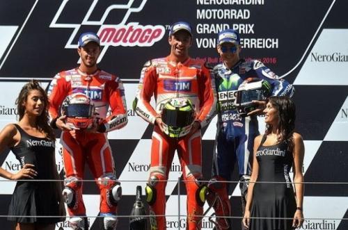 Podium MotoGP Austria 2016