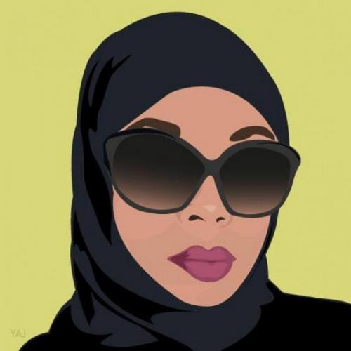 Artis media digital Afrika-Amerika yang berspesialisasi dalam ilustrasi berbasis vektor menciptakan media dan pakaian yang disesuaikan dengan pengalaman Muslim di Amerika.