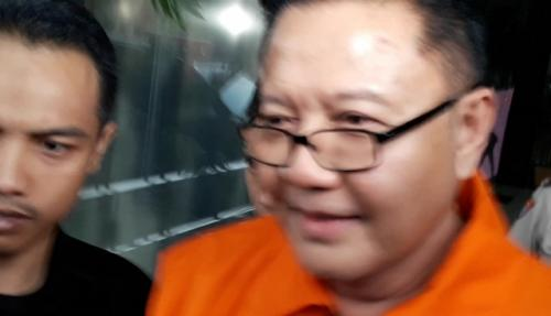 I Nyoman Dhamantra, mantan anggota Komisi VI DPR RI dari Fraksi PDIP, ditahan KPK terkait kasus impor bawang putih. (Foto: Arie Dwi Satrio/Okezone)