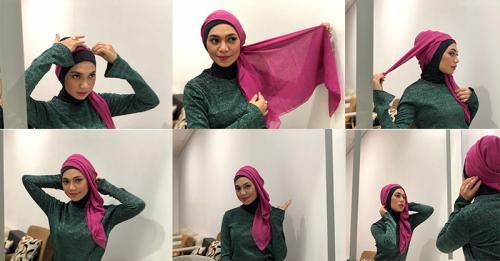 Indah Nevertari tutorial Hijab