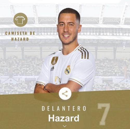 Eden Hazard gunakan nomor 7