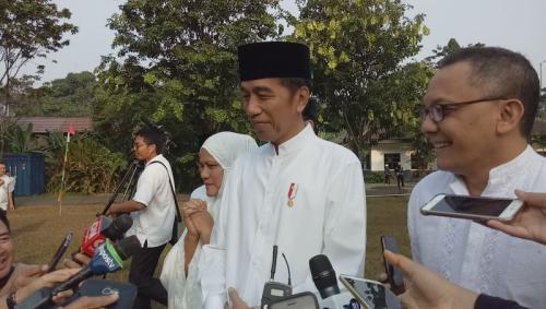 Presiden Jokowi Salat Idul Adha 1440 H di Kebun Raya Bogor, Jawa Barat (Putra RA-Okezone)