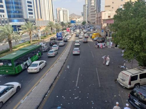 Lalu Lintas di Makkah Padat Jelang Lempar Jumrah (foto: Widi Agustian/Okezone)