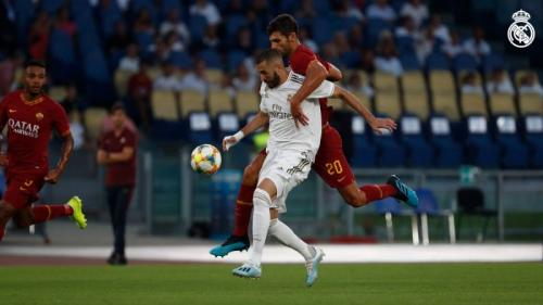 Suasana laga Roma vs Madrid di tur pramusim