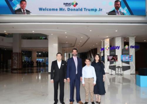 Hary Tanoesoedibjo dan Donald Trump Jr